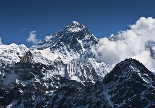 Everest Mountain Peak - the top of the world