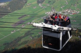 Riding the Cabrio up Mount Stanserhorn