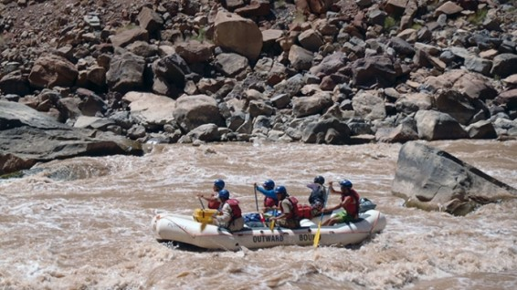 Outward Bound veterans on a Southwest rafting trip