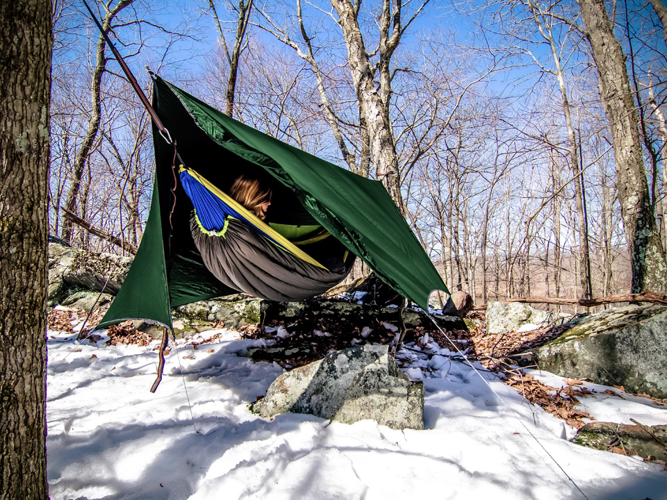 when you sleep in a hammock you u0027re not only exposed to the elements but you also tend to get much colder in areas where your body     10 tips for winter hammock camping   the adventure post  rh   theadventurepost
