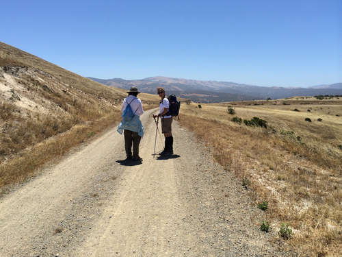 Hiking through Fort Ord in Salinas, California